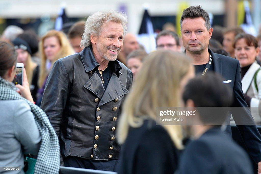 Thomas Gottschalk attends the 'Die Dunkle Seite Des Mondes' Premiere during the Zurich Film Festival on September 27, 2015 in Zurich, Switzerland. The 11th Zurich Film Festival will take place from September 23 until October 4.