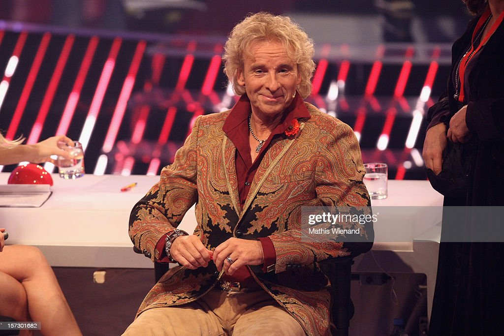 <a gi-track='captionPersonalityLinkClicked' href=/galleries/search?phrase=Thomas+Gottschalk&family=editorial&specificpeople=206369 ng-click='$event.stopPropagation()'>Thomas Gottschalk</a> attends the First Live Show of 'Das Supertalent' on December 1, 2012 in Cologne, Germany.