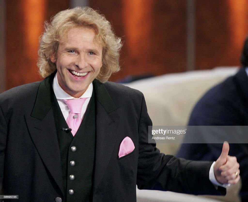 Thomas Gottschalk hosts the live broadcast of the German TV show 'Wetten dass' at the Salzburg Arena on January 28 2006 in Salzburg Austria