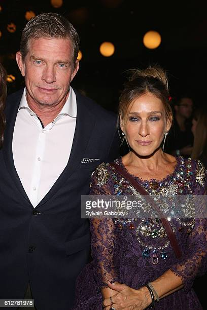 Thomas Haden Church and Sarah Jessica Parker attend HBO Presents the New York Red Carpet Premiere of 'Divorce' After Party at La Sirena on October 4...