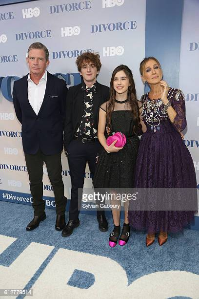 Thomas Haden Church Charlie Kilgore Sterling Jerins and Sarah Jessica Parker attend HBO Presents the New York Red Carpet Premiere of 'Divorce'at SVA...