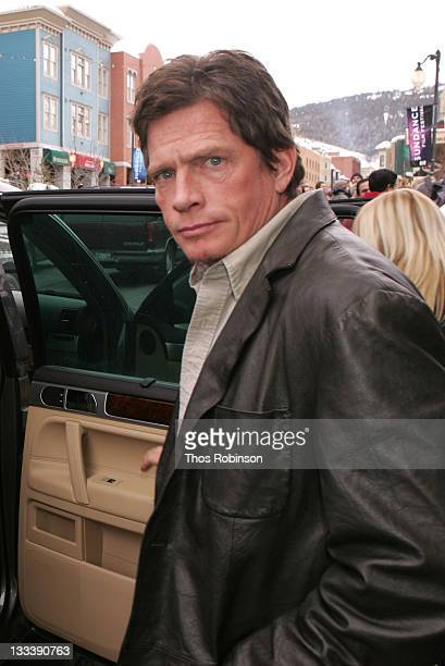 Thomas Haden Church with the Volkswagen Touareg on January 20 2008 in Park City Utah