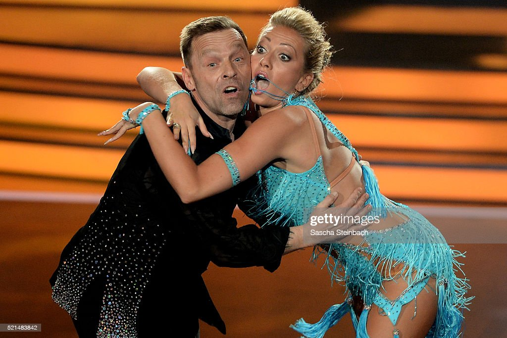 <a gi-track='captionPersonalityLinkClicked' href=/galleries/search?phrase=Thomas+Haessler&family=editorial&specificpeople=786841 ng-click='$event.stopPropagation()'>Thomas Haessler</a> and Regina Luca perform on stage during the 5th show of the television competition 'Let's Dance' at Coloneum on April 15, 2016 in Cologne, Germany.