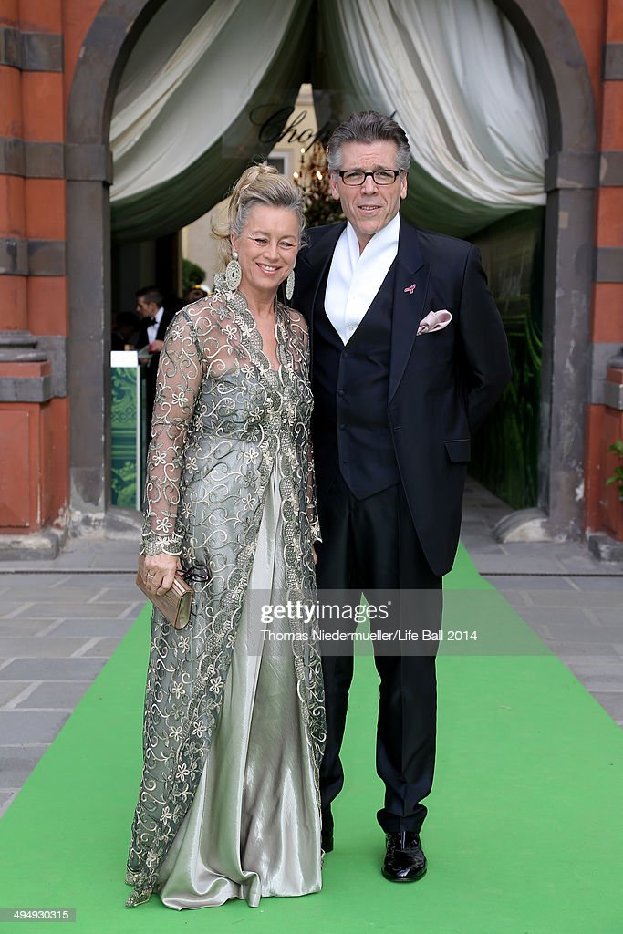 Thomas Hampson and Andrea Herberstein attend the AIDS Solidarity Gala 2014 at Hofburg Vienna on May 31, 2014 in Vienna, Austria.