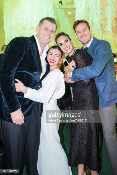 Thomas HartlandMackie Nasiba HartlandMackie Elizabeth Chambers and Armie Hammer at TWO X TWO for AIDS and Art 2017 at The Rachofsky House on October...