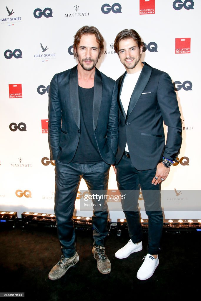 Thomas Hayo and Florian Molzahn attend the GQ Mension Style Party 2017 at Austernbank on July 5, 2017 in Berlin, Germany.