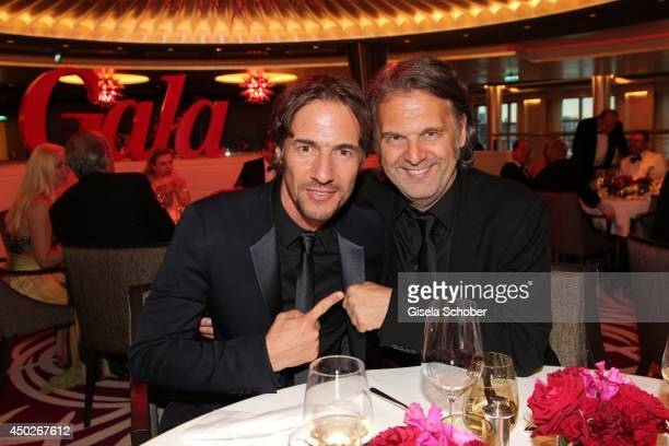 Thomas Hayo and his brother Peter Hayo attend the '20 Jahre Gala' Anniversary Celebration The Private Birthday Cruise on board of 'MS Europa 2' on...