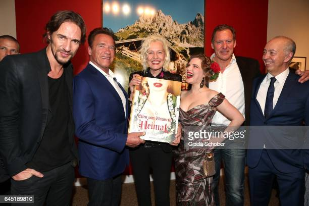 Thomas Hayo Arnold Schwarzenegger Photographer Ellen von Unwerth and Syrie Moskowitz Ralf Moeller and Benedikt Taschen during the opening night of...