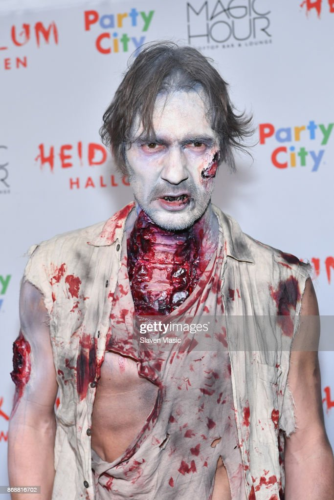 Thomas Hayo attends Heidi Klum's 18th annual Halloween Party presented by Party City at the Magic Hour Rooftop Bar & Lounge on October 31, 2017 in New York City.
