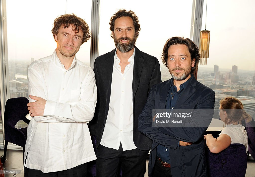 Thomas Heatherwick, Edward Barber and Jay Osgerby attend the London Design Festival dinner hosted by Ben Evans at Aqua Shard on July 23, 2013 in London, England.