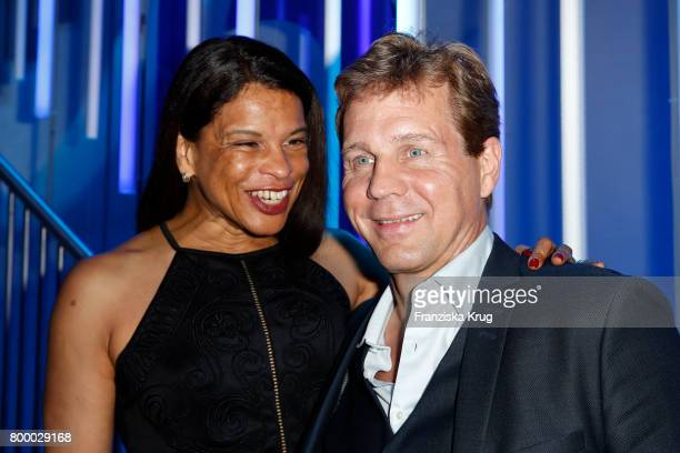 Thomas Heinze and his wife Jackie Brown attend the 'Bertelsmann Summer Party' at Bertelsmann Repraesentanz on June 22 2017 in Berlin Germany