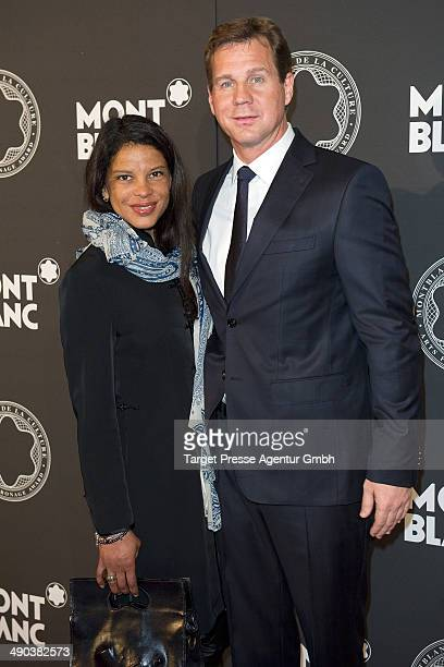 Thomas Heinze and Jackie Brown attend the Montblanc De La Culture Arts Patronage Award 2014 at Hotel De Rome on May 14 2014 in Berlin Germany