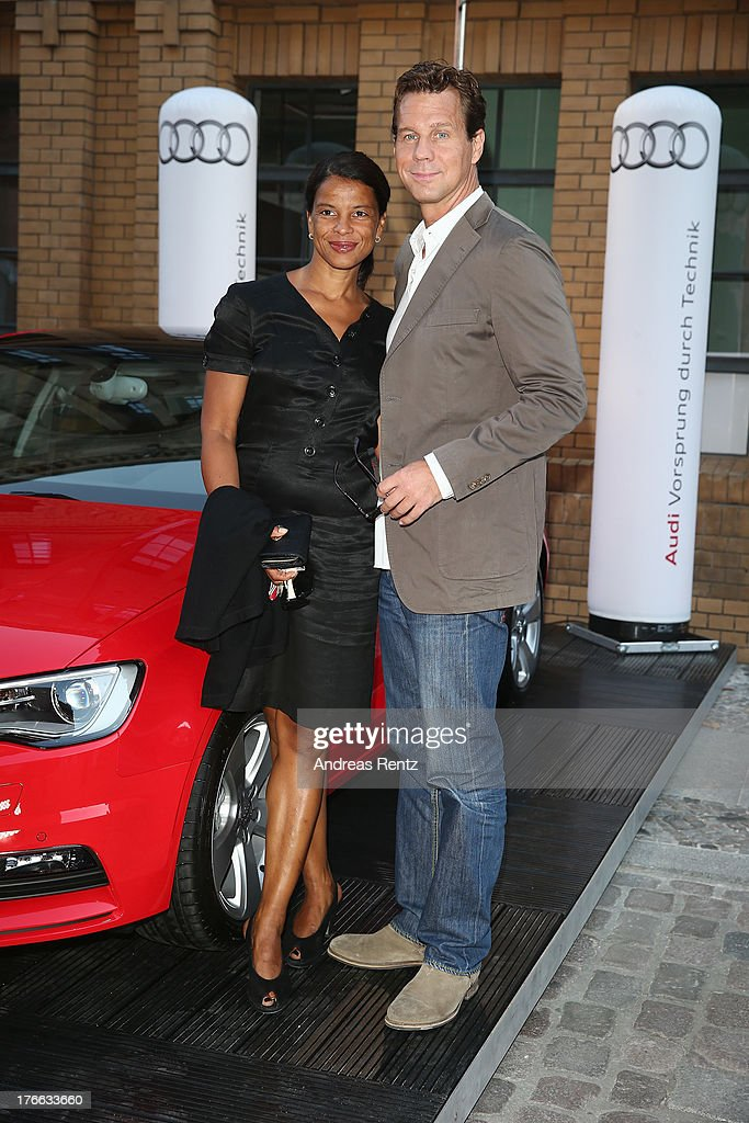 Thomas Heinze and Jacky Brown attend the 12th Audi Classic Open Air during the AUDI Sommernacht at Kulturbrauerei on August 16, 2013 in Berlin, Germany.
