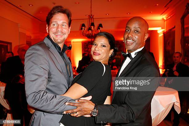 Thomas Heinze Jackie Brown and Yared Dibaba attend the Gala Spa Awards 2014 at Brenners Parkhotel BadenBaden on March 15 2014 in BadenBaden Germany