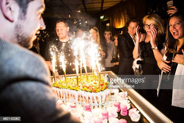 Thomas Heinze Nora Rochlitzer and Dana Schweiger attend the 40th birthday party of Franziska Knuppe on December 07 2014 in Berlin Germany