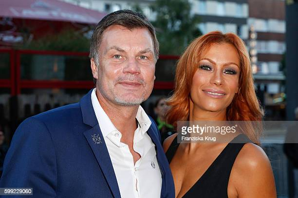 Thomas Helmer and Yasmina Filali attend the 'Nacht der Legenden' at Schmidts Tivoli on September 04 2016 in Hamburg Germany