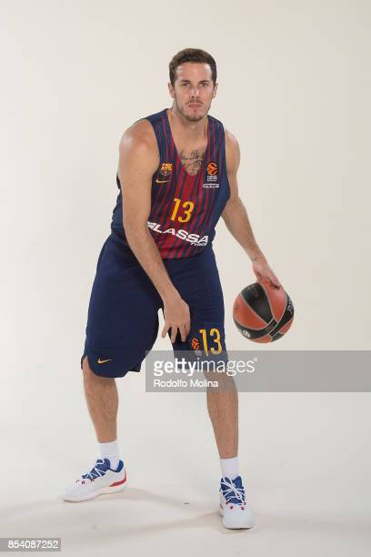 Thomas Heurtel #13 poses during FC Barcelona Lassa 2017/2018 Turkish Airlines EuroLeague Media Day at Palau Blaugrana on September 25 2017 in...
