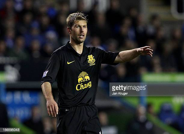 Thomas Hitzlsperger of Everton during the Barclays Premier League match between Reading and Everton at Madejski Stadium on November 17 2012 in...