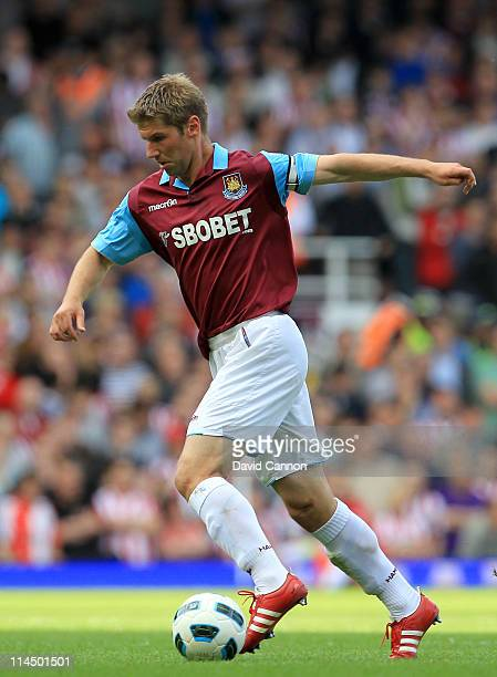 Thomas Hitzlsperger of West Ham United during the Barclays Premier League match between West Ham United and Sunderland at the Boleyn Ground on May 22...