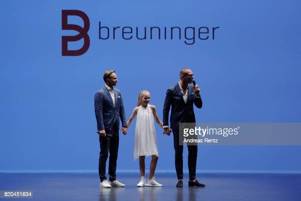 Thomas Hoehn Andreas Rebbelmund and his daughter Astrid the runway at the Breuninger show during Platform Fashion July 2017 at Areal Boehler on July...