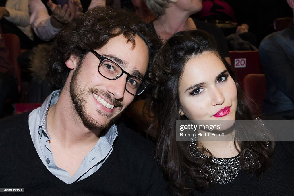Thomas Hollande, the son of French President Francois Hollande, and singer Joyce Jonathan attending Celine Dion's Concert at Palais Omnisports de Bercy on December 5, 2013 in Paris, France.