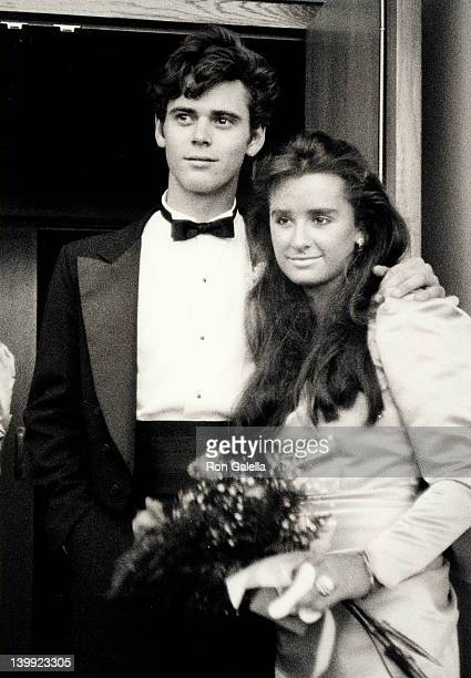 C Thomas Howell and Kyle Richards at the Kim RichardsG Monty Brinson Wedding Beverly Hills Hotel Beverly Hills