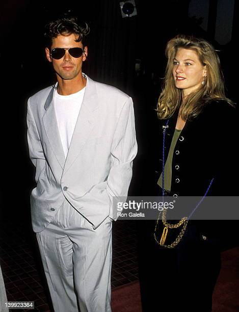 C Thomas Howell and Lala Zappa at the Premiere of 'Die Hard 2' Avco Center Cinema Westwood