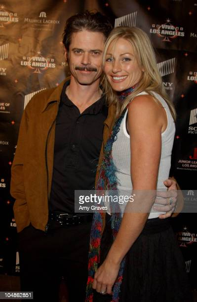 C Thomas Howell and Sylvie during Junior League of Los Angeles 2nd Annual Viva Los Angeles Casino Night at Sony Pictures Plaza in Culver City...