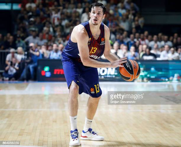 Thomas Huertel of Barcelona in action during the 2017/2018 Turkish Airlines EuroLeague Regular Season game between Crvena Zvezda mts Belgrade and FC...