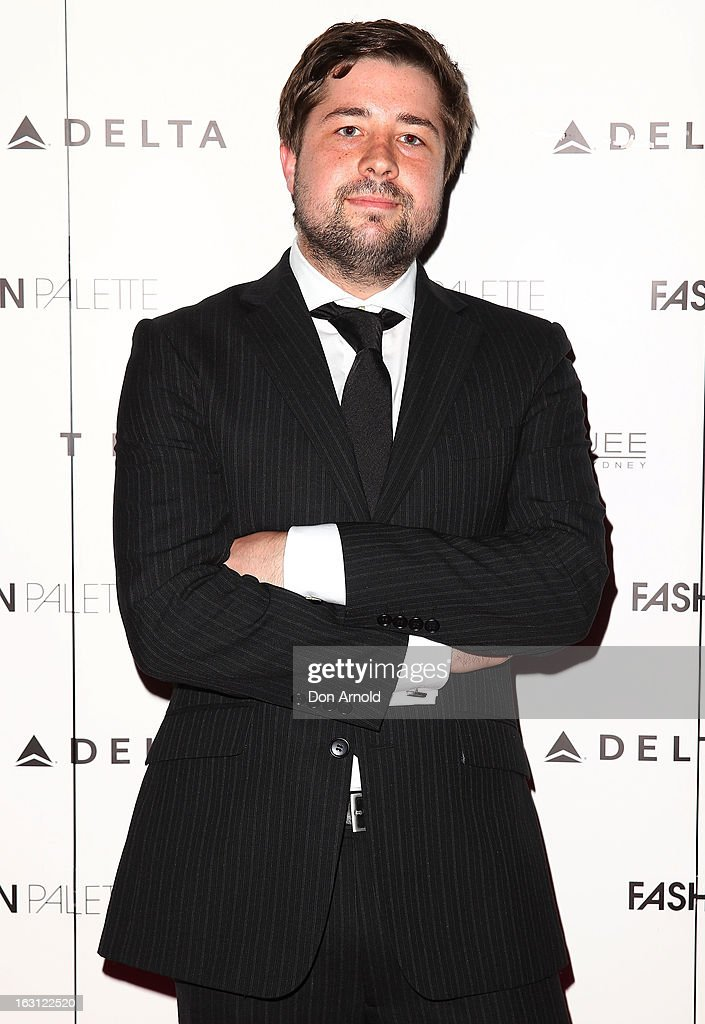 Thomas Hulston poses during the Fashion Palette VIP launch at The Star on March 5, 2013 in Sydney, Australia.