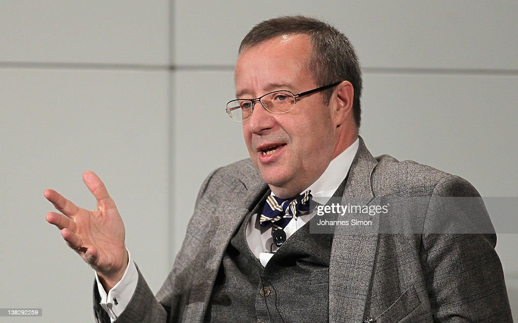 Thomas Ilves, President of Estonia, participates in a panel discussion during day 3 of the 48th Munich Security Conference at Hotel Bayerischer Hof on February 5, 2012 in Munich, Germany. The 48th Munich conference on security policy is running till February 5, 2012.
