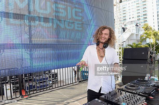 Thomas Jack performs onstage at SiriusXM Celebrates 10th Anniversary Of The SiriusXM Music Lounge At 1 Hotel South Beach Leading Up To Ultra Music...
