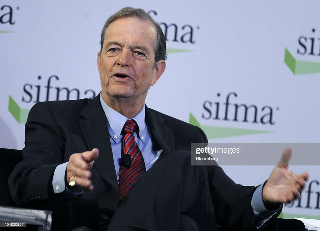Thomas James, chairman of Raymond James Financial Inc., speaks at the Securities Industry and Financial Markets Association (SIFMA) annual meeting in New York, U.S., on Tuesday, Oct. 23, 2012. Timothy Ryan, chief executive officer of SIFMA, said the so-called Volcker rule has the 'most complexity risk' among the new Dodd-Frank financial regulations. Photographer: Peter Foley/Bloomberg via Getty Images