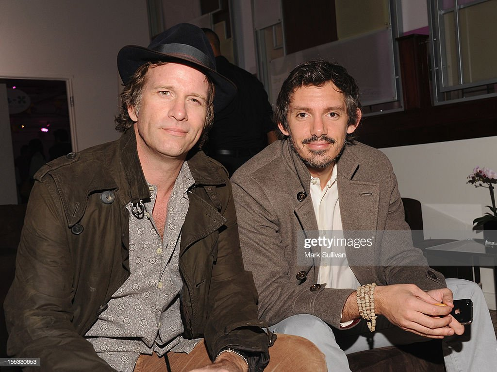 Thomas Jane and Lucas Haas attend Rilakkuma & Space Hamsters at The Mark for Events on November 2, 2012 in Los Angeles, California.