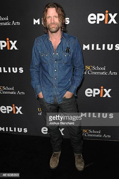 Thomas Jane arrives at EPIX USC Host An Evening With John Milius at USC Norris Theatre on January 9 2014 in Los Angeles California