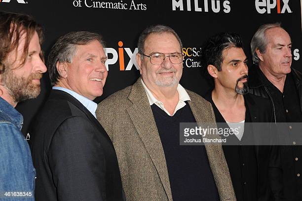 Thomas Jane Mark Greenberg John Milius Joey Figueroa and Powers Boothe arrive at EPIX USC Host An Evening With John Milius at USC Norris Theatre on...