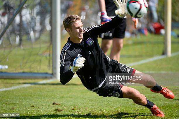 Thomas Kaminski of Rsc Anderlecht pictured during the training session of RSC Anderlecht at the Irene Sportcomplex in Tegelen on juli 10 2015 in...