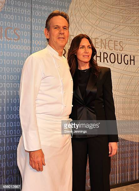 Thomas Keller and Laura Cunningham attend the 2014 Breakthrough Prize Inaugural Ceremony for Awards in Fundamental Physics and Life Sciences at NASA...
