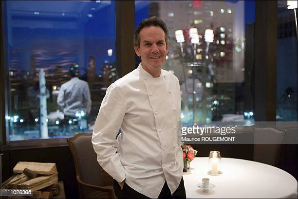 Thomas Keller the chef of Per Se restaurant It is located in the Time Warner building in front of Central Park in New York United States on November...