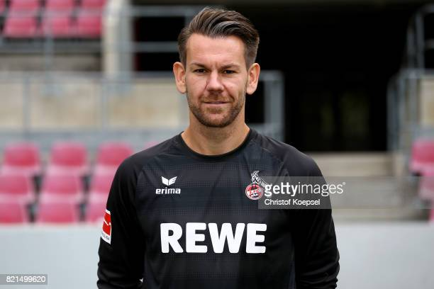 Thomas Kessler of 1 FC Koeln poses during the team presentation at RheinEnergie Stadion on July 24 2017 in Cologne Germany