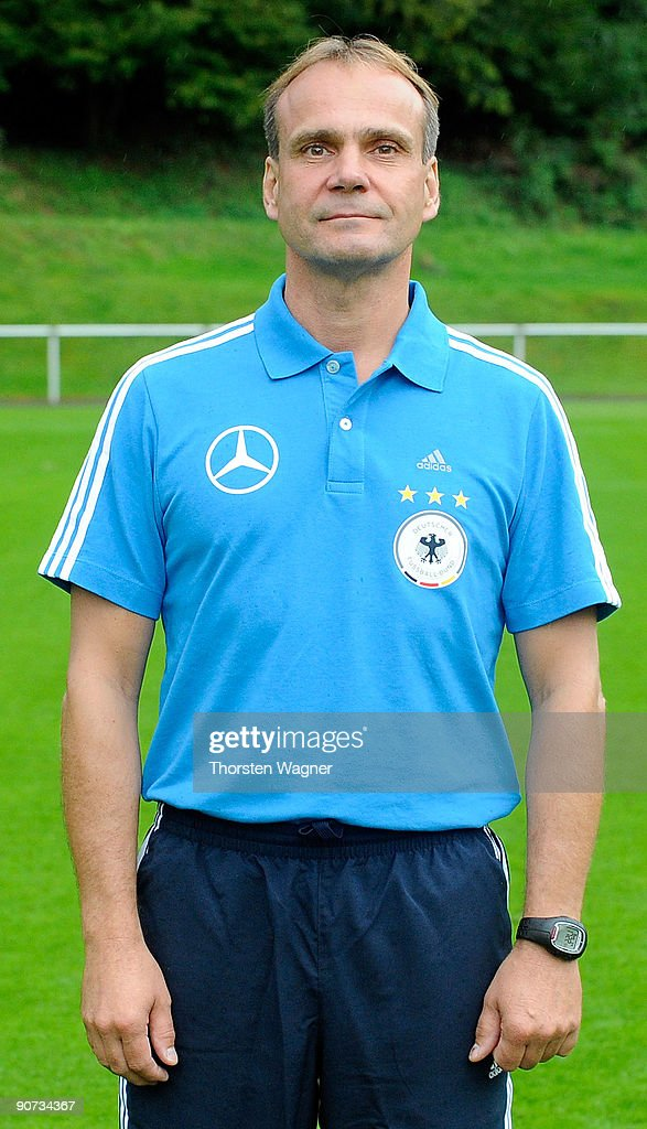 Thomas Klemm, assistant coach poses during the U17 Germany team presentation at the Sportschule on September 14, 2009 in Hennef, Germany.