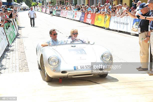 Thomas Koblmueller and Brendon Hartley participate at the Ennstal Classic 2015 on July 18 2015 in Groebming Austria