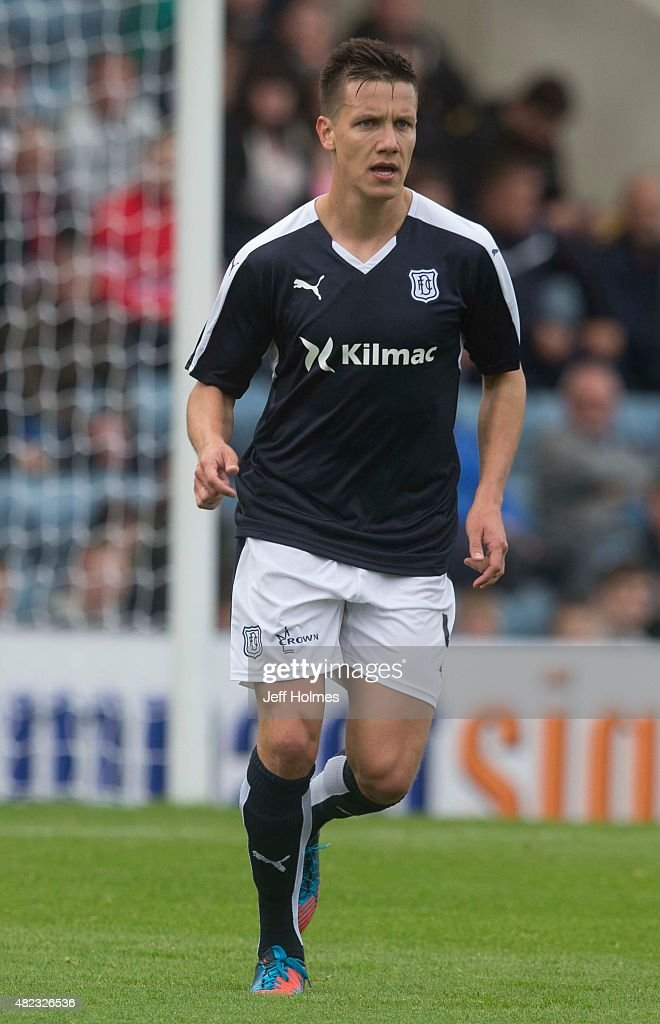 Thomas Konrad for Dundee at the Pre Season Friendly between Dundee and Everton at Dens Park on July 28th 2015 in Dundee Scotland