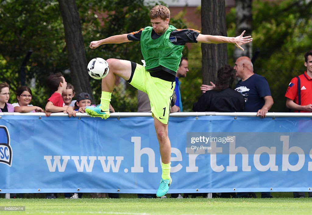 Thomas Kraft of Hertha BSC during the training on june 29, 2016 in Berlin, Germany.