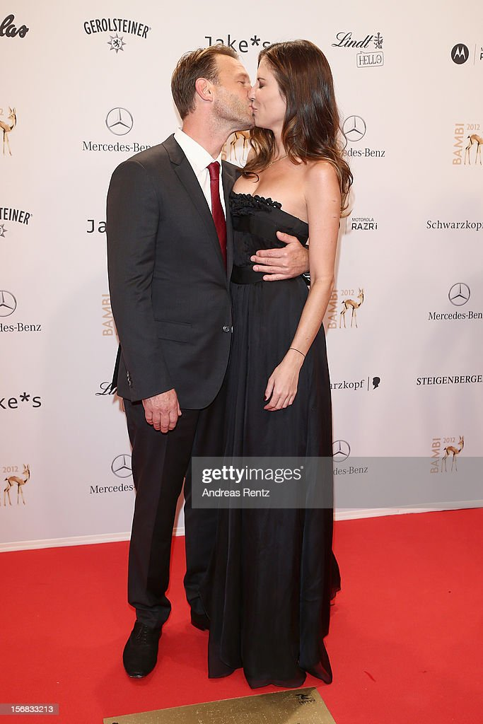 Thomas Kretschmann and Brittany Rice attend 'BAMBI Awards 2012' at the Stadthalle Duesseldorf on November 22, 2012 in Duesseldorf, Germany.