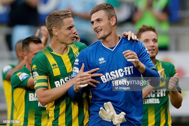 Thomas Kristensen of ADO Den Haag Martin Hansen of ADO Den Haag during the Dutch Eredivisie match between ADO Den Haag and PSV Eindhoven at Kyocera...