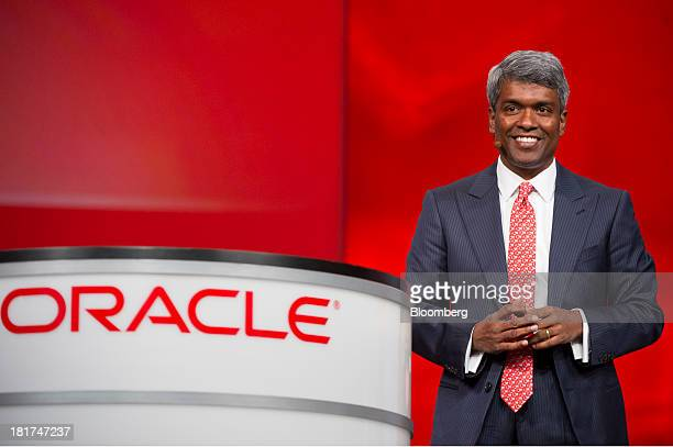 Thomas Kurian executive vice president of product development for Oracle Corp speaks during the Oracle OpenWorld 2013 conference in San Francisco...