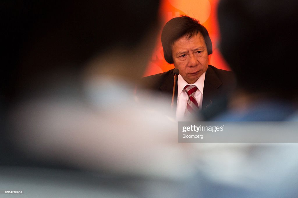 Thomas Kwok, co-chairman of Sun Hung Kai Properties Ltd., attends a news conference in Hong Kong, China, on Thursday, Nov. 15, 2012. Sun Hung Kai will continue buying land in Hong Kong, says Thomas Kwok. Photographer: Lam Yik Fei/Bloomberg via Getty Images
