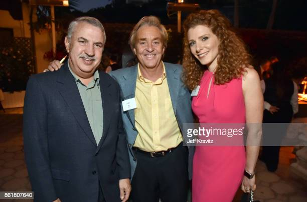 Thomas L Friedman Jim Steyler and Julia Boorsten at an Evening With Thomas L Friedman and Common Sense Media on October 15 2017 at the Bel Air Bay...