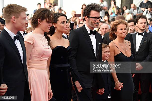 Thomas Langmann Zukhra Duishvili Berenice Bejo Michel Hazanavicius and Abdul Khlim Mamamtsuiev attend 'The Search' Premiere at the 67th Annual Cannes...